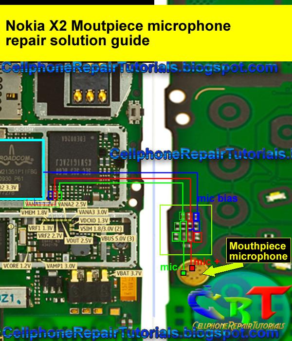 nokia x mouthpiece  microphone  failure  repair solution, wiring diagram