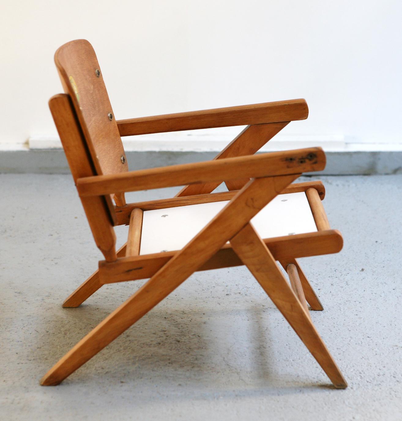 baos chaise enfant ann es 60 vintage restaur. Black Bedroom Furniture Sets. Home Design Ideas