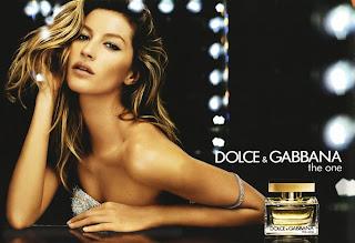 Dolce & Gabbana The One for women perfume da rosa negra top model Gisele Bündchen