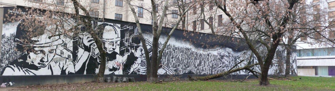 Patriotyczny mural - Powstanie