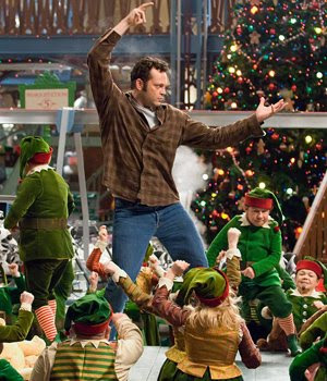 Vince Vaughn doing his best Elvis impersonation in FRED CLAUS