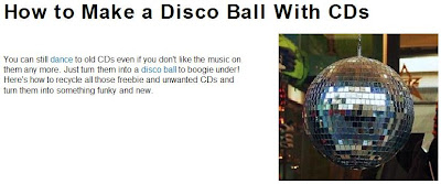 Make a Disco Ball with CDs