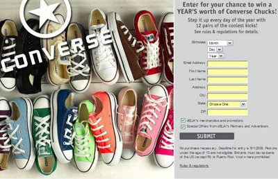 Win a Year's Worth of Chucks @ Delia's