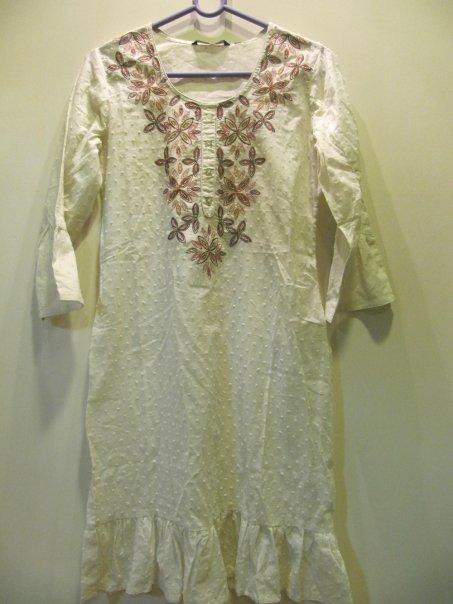 patern cotton kurta rm 70.