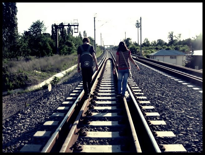 Life is like a track so long and so dangerous but with an ending..