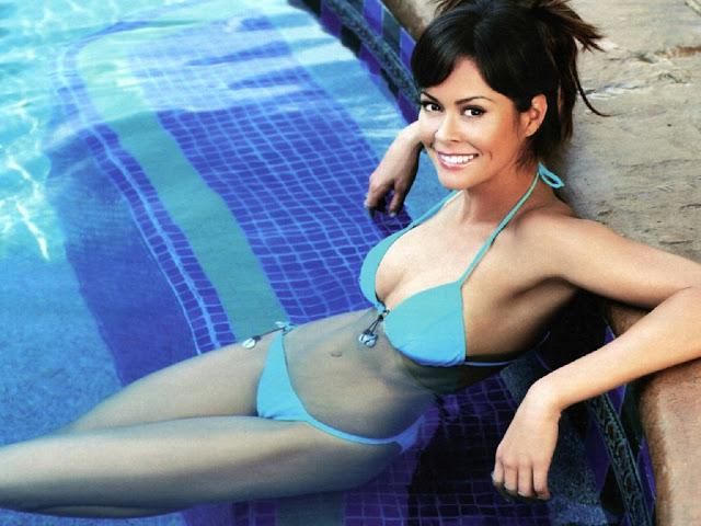 Sexy Blue Bikini Brooke Burke