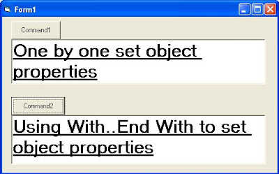 How to Set Object Properties using With..End With