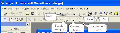 Visual Basic Standard Toolbar