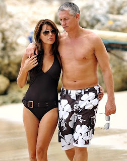 Gary Linekar and Danielle Bux