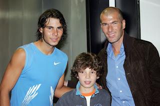 Raefal Nadal with Zinedine Zidane