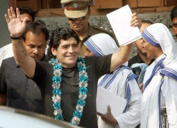 Diego Maradona at Missionaries of Charity
