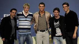 Xavi, Torres, Ronaldo, Messi, Kaka