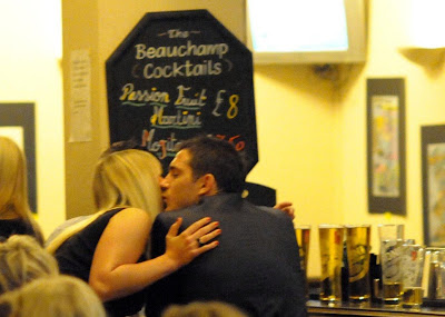 Frank Lampard with a Blonde in a Pub