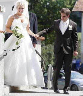 Philipp Lahm and Claudia Schattenberg Wedding