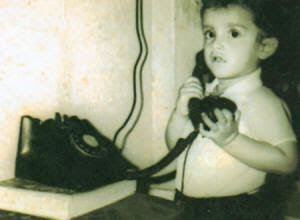Childhood Photograph of Saurav Ganguly