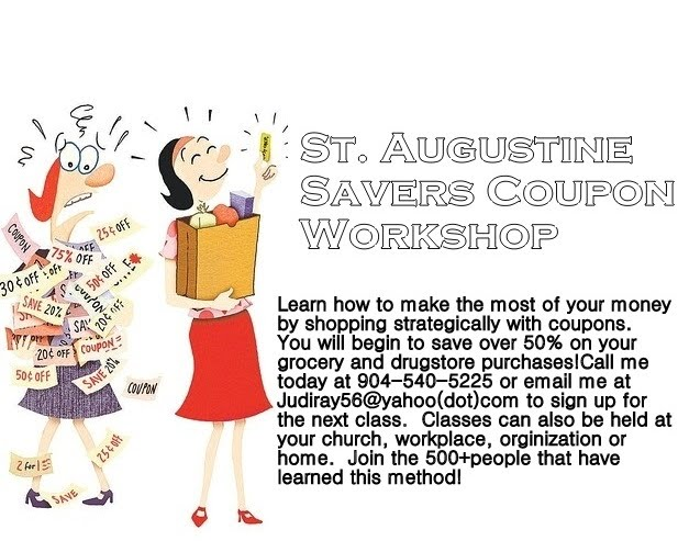 ST AUGUSTINE SAVERS COUPON WORKSHOP