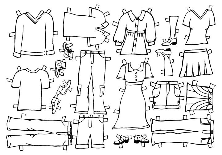 Beth & John's Wedding: Paper Doll Clothes