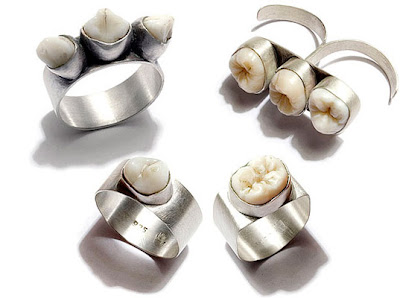 Human teeth jewellery