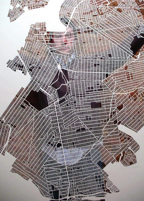 Something Amazing  Amazing Paper Map Cut By Karen O Leary