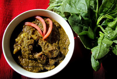 Palak Mutton Gravy / Spinach Mutton Gravy Recipe / Palak Gosht Recipe
