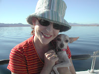 Bess, my little chihuahua, just loves sailing