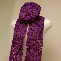 Purple Scarf and Hat Set!