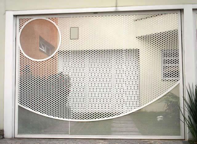 Portão de tela e tubo