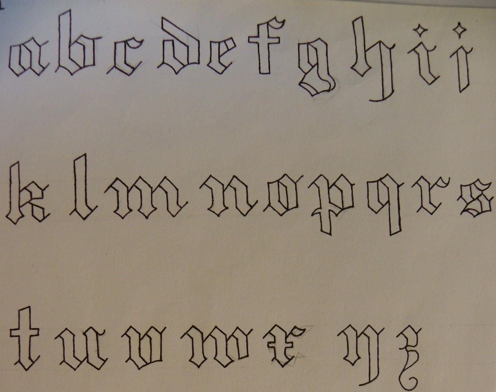 police ecriture tatouage dafont