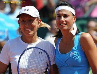 tenistas Gabriela Sabatini y Martina Navratilova