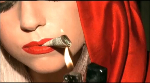 lady gaga smoking money