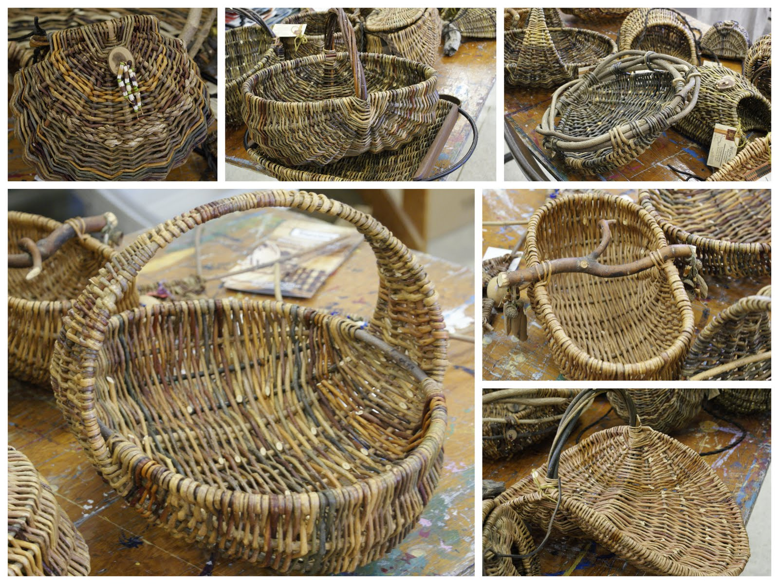 Materials For Basket Making : Willows rib style basket making