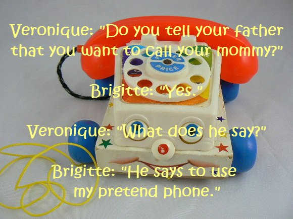 Pretend Phone, Pretend Mommy . . .