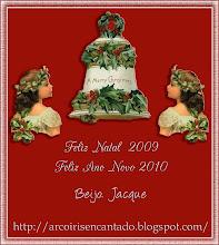 Cartão de Boas Festas oferecido pela amiga Jacque