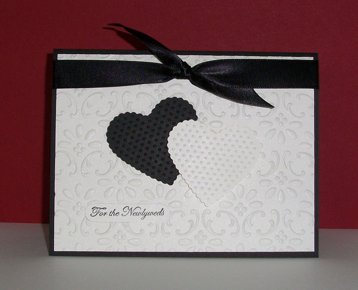 love a simple classic wedding card don t you for this card i used ...