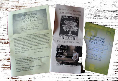 Yellow Tree Theatre flyers