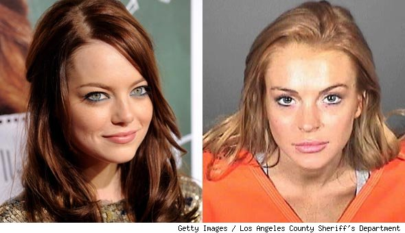 brown red hair lindsay lohan. raspy voice and red hair,