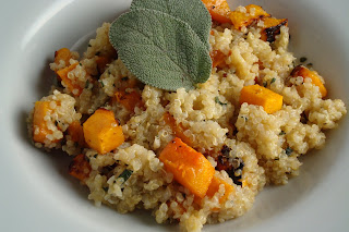 Dishing Up Delights: Warm Quinoa Salad with Roasted Butternut Squash