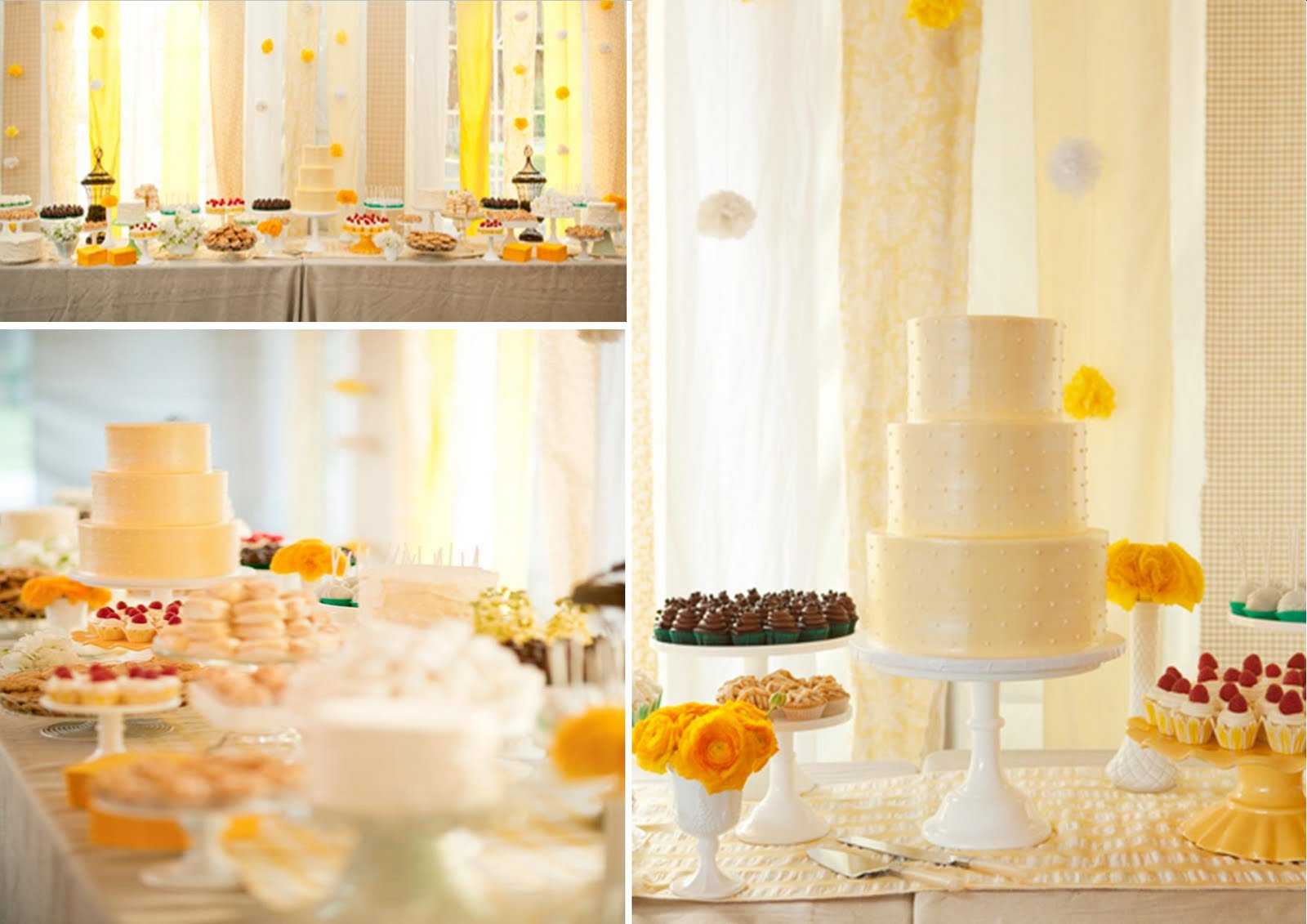 Icing Designs: My Sweet and Saucy Sweet Yellow Dessert Table