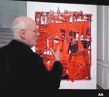 Jan Voss devant sa dernière composition