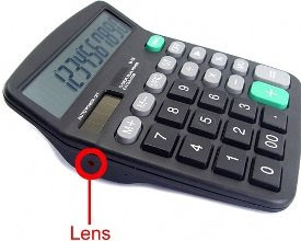 spy cammera in a calculator