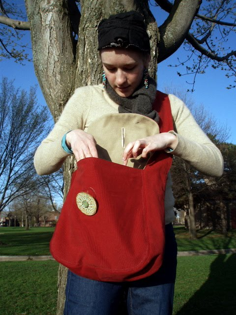 Bag with Ceramic Button