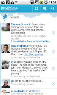 Download Twitter aplikacija za Android 2.1
