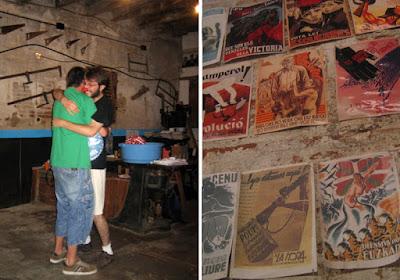 Taller de payasos y exposición de carteles en la Fusteria