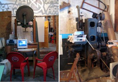 Antiguas herramientas de la Fusteria de Sarrià