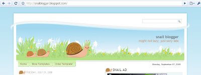 Snail blogger template