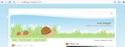 Snail blogger template