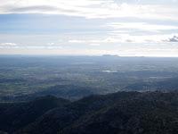 Vista del pla de Mallorca, amb l'illa de Cabrera al fons