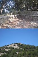 Foto de d'alt:Explanada. Foto de Baix: Caseta de l'Arxiduc