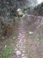 Camí de ferradura que du a la barrera per pujar l'ermita