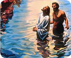 Jesus bautizandose